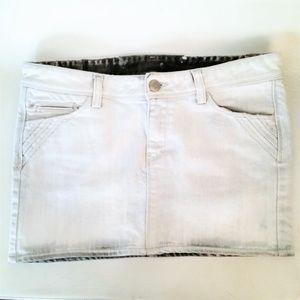 IRO Gray Kavate Denim Mini Skirt